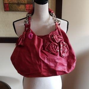 Betsey Johnson Leather Red Handbag